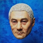 Black Warrior Samurai Head Sculpt (White Hair)<BR>PRE-ORDER: ETA Q4 2019
