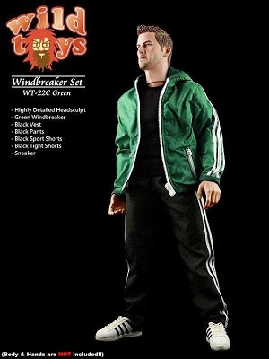 Windbreaker Sports Outfit with Head Sculpt