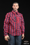 Plaid Shirt & Jeans Set (Red)<BR>PRE-ORDER: ETA Q1 2020
