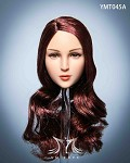Maple Female Head Sculpt (Long Auburn Hair)<BR>PRE-ORDER: ETA Q4 2020