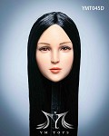 Maple Female Head Sculpt (Long Black Hair)<BR>PRE-ORDER: ETA Q4 2020