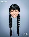 Malus Female Head Sculpt (Black Hair in Braids)<BR>PRE-ORDER: ETA Q4 2020