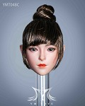 Tatum Female Head Sculpt (Brunette Hair in Bun)<BR>PRE-ORDER: ETA Q1 2021