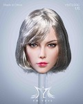 Brynlee Female Head Sculpt (Short Silver Hair)<BR>PRE-ORDER: ETA Q3 2021