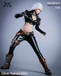 Silver Hair Assassin Outfit & Head Sculpt Set<BR>PRE-ORDER: ETA Q3 2021
