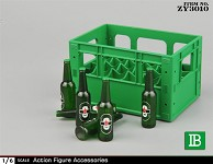Beer Bottles and Crate Set