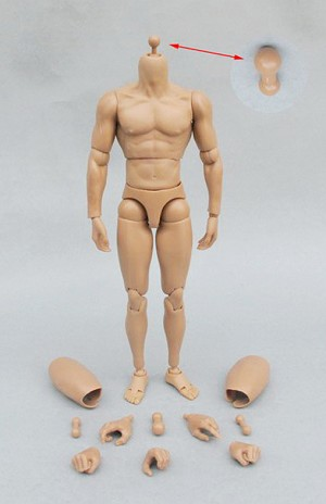 Muscular Action Figure Body
