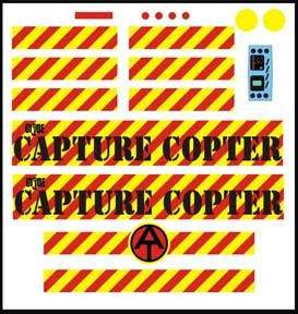 Capture Copter Decal Set