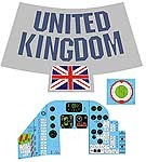 Space Capsule Decal Set<BR>(United Kingdom)