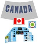 Space Capsule Decal Set<BR>(Canada)