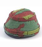 Italian Paratrooper Helmet with Cloth Camo Cover