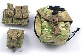 Triple Pistol Ammo Pouch, Vertical GP Pouch, Grenade Pouch