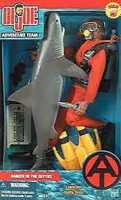 SCUBA Danger of the Depths w/Shark (Cauc.) AS-IS