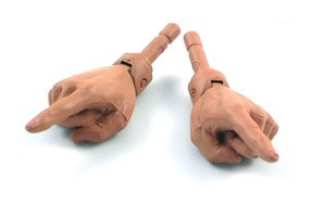 Pointing Hands (pair)