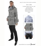 Men's Gray Trench Coat Set
