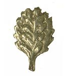 German Cap Badge - Oak Leaf - Pewter