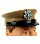 U.S. Army Peak Cap<br>Tan with Badge