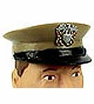 USN Peak Cap<br>Tan with Badge