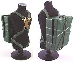 Parachute Pack with Straps (Green)<BR>