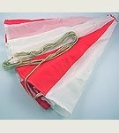 Red & White Parachute with Cord<BR>