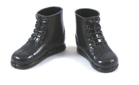 Short Black Boots - 60's Hasbro Style <BR>