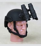 FAST Ballistic Helmet with NVG (Black)