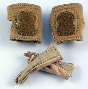 Cloth Kneepads & Tan Cloth Nomex Gloves