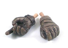 Blackhawk Style Gloved Hands with Tan Pegs