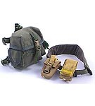 Gas Mask Bag, Padded Belt, 2 Misc. Pouches