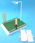 Cricket Stand with Equipment<BR>(Action Man 40th Anniv.)