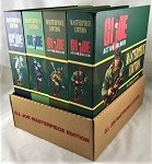GI Joe Masterpiece Ed Set of 4 Caucasian with Retailer's lower display box