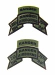 2nd Ranger Battalion Patch (Old-Subdued) Pair