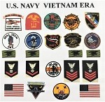 US Navy Vietnam Era Insignia Set