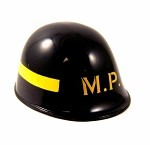 Helmet: US Military Police Black with Yellow Stripe (Hasbro-Style)