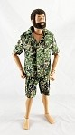 Safari Short-Sleeve Shirt & Cargo Shorts Set (JGSDF Camo)