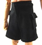 Shorts: Cargo Pockets (Black Cotton)