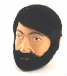 Head - Dirk Fuzzy Black with Beard