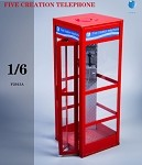 Red Telephone Booth (1:6 Scale)<BR>PRE-ORDER: ETA Q2 2021