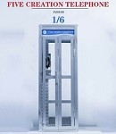 Silver Telephone Booth (1:6 Scale)<BR>PRE-ORDER: Q2 2021