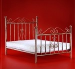Metal Bedframe with Mattress - Bronze