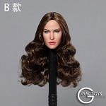 Deborah Female Head Sculpt (Long Wavy Hair)<BR>PRE-ORDER: ETA Q1 2020