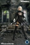 Black Cosplay Outfit & Head Sculpt Set for Nier (Rooted Hair) (1:12 Scale)<BR>PRE-ORDER: ETA Q1 2020
