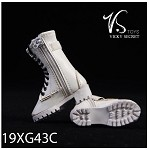 Zipper Boots - White