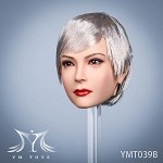 Ada Female Head Sculpt (Silver Hair)<BR>PRE-ORDER: ETA Q3 2020