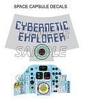 Cybernetic Explorer Space Capsule Decal Set