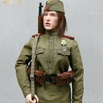WWII Soviet Female Sniper Uniform Set