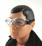 Goggles: Oval Lens, Silver Edge