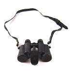 Binoculars: Black Leather Strap & Detailing