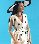 Women's Polka Dot Dress Set (White/Black)<br><b>Save $8!!</b>