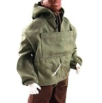 Hooded Anorak Set (Olive Drab/Brown)
